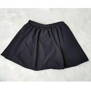 Solid Black Aline Flare Skater Skirt Basic Small S